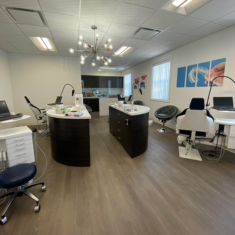 A state-of-the-art orthodontic treatment room at North Shore Orthodontics in Smithtown NY